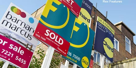House prices make shock gain – largest since January 2010