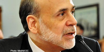 FTSE falls as Bernanke remarks offset ECB cash flood