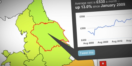 Interactive: how much has rent gone up in your area?