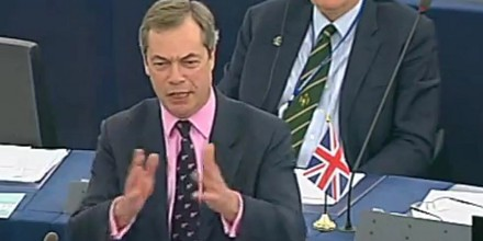 Nigel Farage breathes fire at stunned Eurocrats