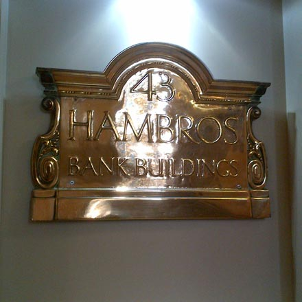 Original Hambros Plaque