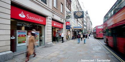 Santander puts float on ice