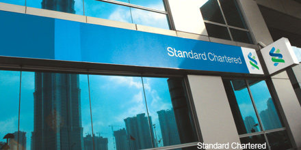 Standard Chartered leads FTSE gains but Vodafone drags