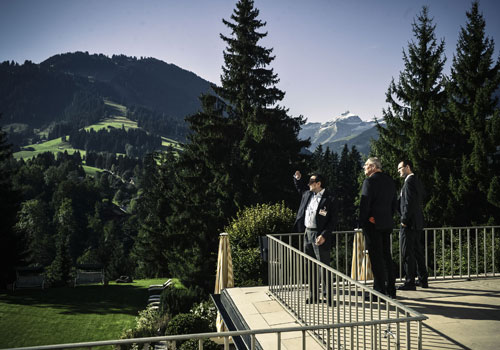 Selectors take in the stunning views at the Citywire Switzerland 2012 event in Gstaad