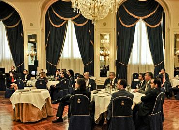 Los analistas de fondos de España, escuchando las conferencias en el Foro de Selectores de Fondos