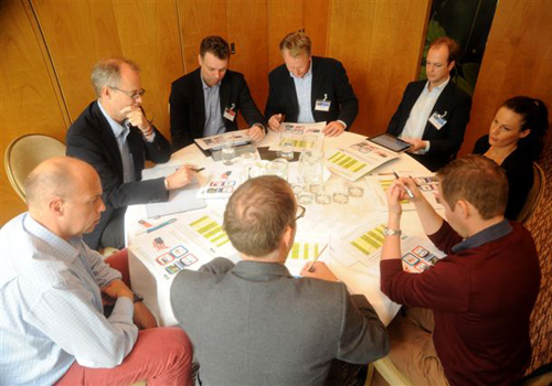 Delegates get involved in one of the Wealth Manager Retreat's workshops