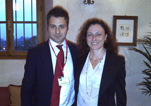 Smiling with Silvia Tenconi of Eurizon Capital