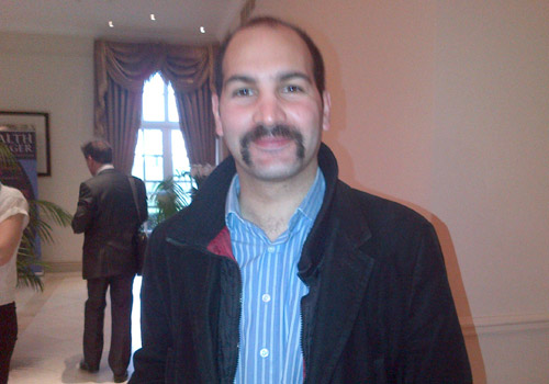Bestinvest's Ben Seager-Scott shows off his Movember achievements at our Smart Beta retreat.