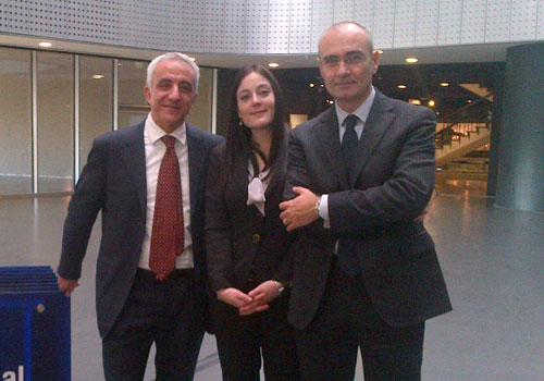 With Carlo Giausa and Mauro Albanese at the Fineco Financial Village