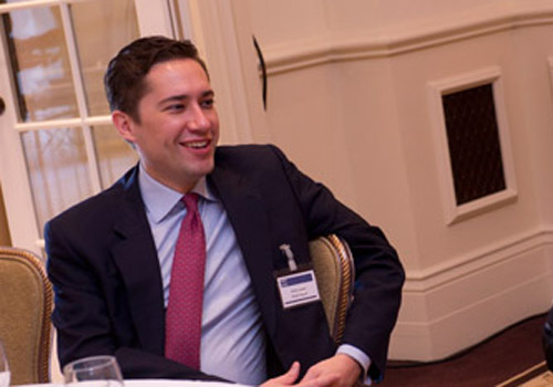 Shard Capital's Simon Legge takes his place at the Alternative UCITS Retreat