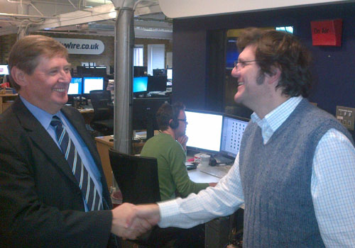 With Fortuna Asset Management Communication's John Morgan at Citywire's headquarters