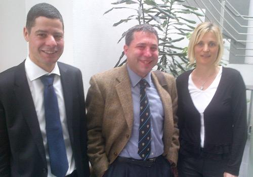 In guter Runde mit Christopher Nocker und Petra Weinl von Hypo Tirol Bank