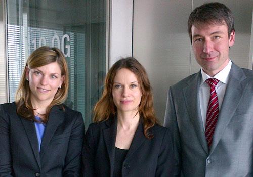 Bei der Commerzbank in Frankfurt mit Gerhard Faust und Geraldine Rodriguez