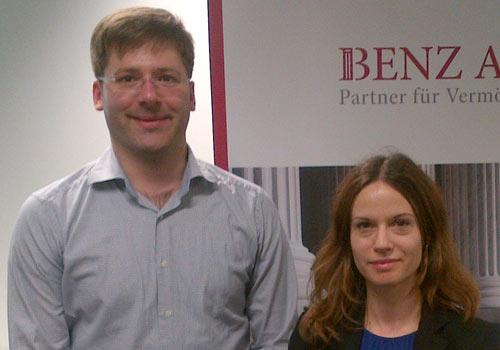 Mit Sven Bross von Benz AG in Stuttgart