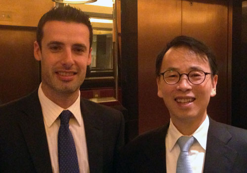 In the frame with guest speaker Andy Xie at the recent Citywire Hong Kong forum