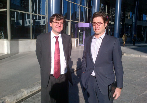 Jesús de Citywire saluda a Jaime Perez-Maura de Allfunds Bank