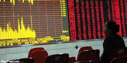 Shares veer into red as China worries spread