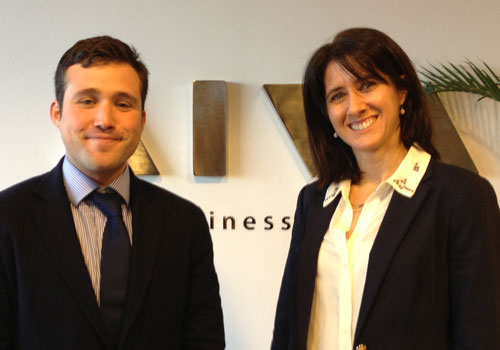 Alejandro meets Veronica Rey from Aiva - Old Mutual in Zonamerica in Uruguay