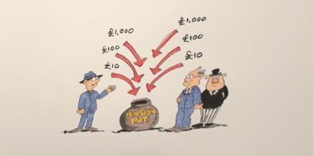 Steve Bee's savings sketches: auto-enrolment animated