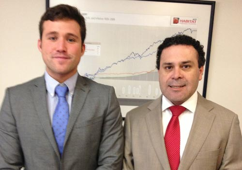 Alejandro catches up with Dalton Merino from AFP Habitat in Chile