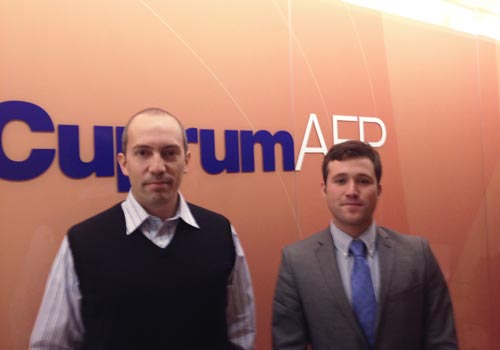Alejandro meets Rodrigo Manzur from AFP Cuprum in Chile