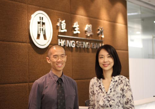 Nick Tay meets Belle Liang from Hang Seng Bank in Hong Kong