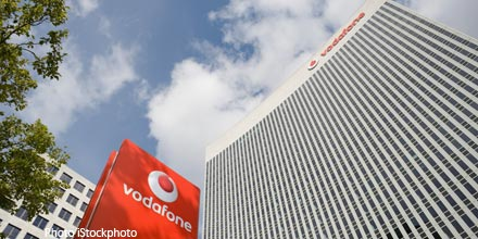 Vodafone in the lead as shares sprint higher