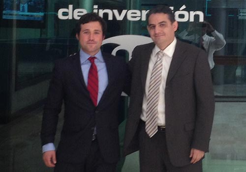 Alejandro meets Luis Alberto Rico, General Director of Nafinse