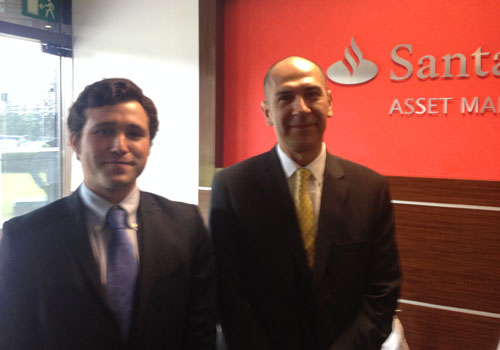 Alejandro meets Jorge López from Santander AM