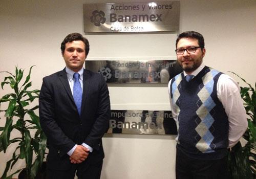 Alejandro meets Arturo Muñoz of Banamex