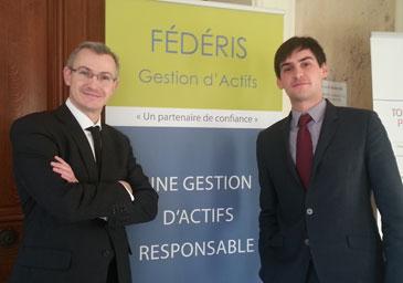 Directeur Général Délégué de Féderis Gestion d'Actifs, Philippe Aurain avec Paul-Valentin Pitou