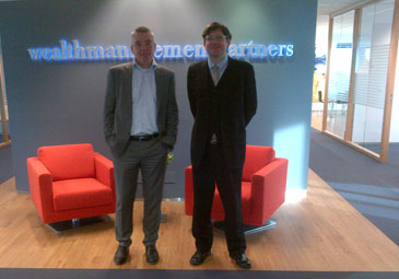 Jesus Sobral with Rico Bosma, Wealth Managers Partners in Amstemveen