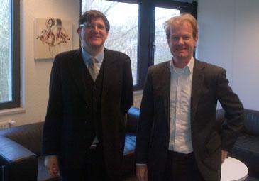 Jesus Sobral with Arnaud Sttutterheim of Persist in Amstemveen