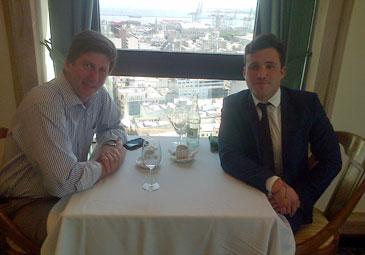 Alejandro se reune con Juan Antonio Bartesaghi en Montevideo, Uruguay
