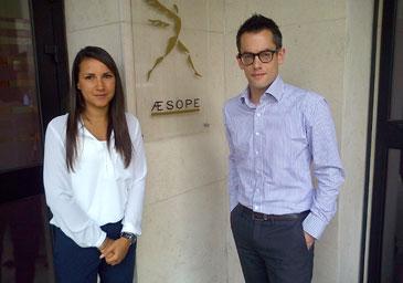 Sabrina rencontre Yann Olivier de AESOPE à Lyon