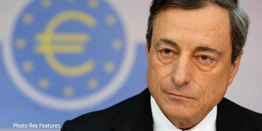 Draghi drags FTSE off lows with stimulus hint