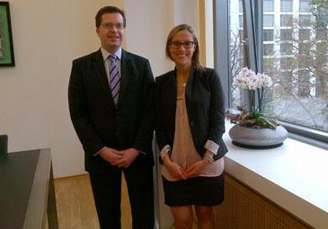 Elisa Morettini in Düsseldorf mit Daniel Oyen, von Plettenberg, Conradt & Cie. Family Office
