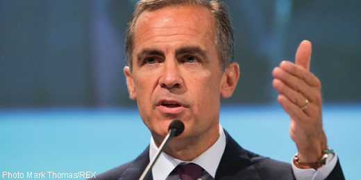Carney warns of 'excessive risk taking' after euro QE