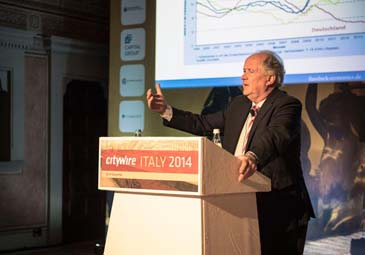 L'economista tedesco Heiner Flassbeck a Citywire Italy 2014