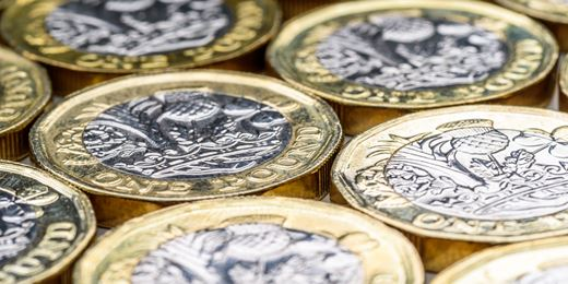 Pound falls as steady inflation eases rate rise pressure