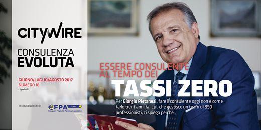 Giorgio Pietanesi (Fideuram Ispb), essere consulente al tempo dei tassi zero