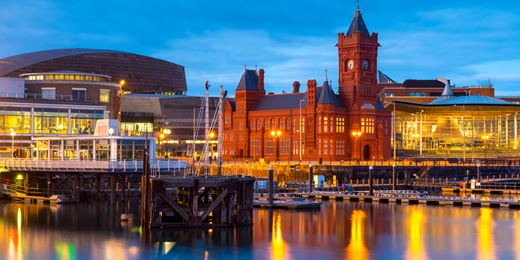 All smiles in Cardiff: Business isn't dragon its feet in the Welsh capital